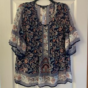 Roz & Ali peasant style blouse
